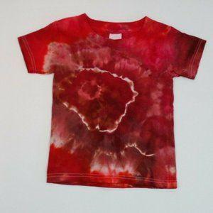 Hand Dyed Tie Dye Tee Cotton Jersey  Shirt Kids 2T